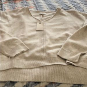 Lucky brand soft v neck sweater, oatmeal BNWT